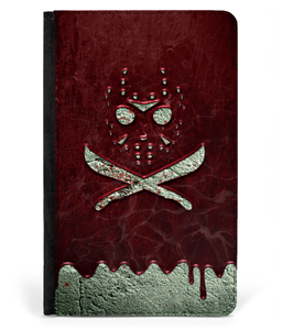 iPad 2/3/4 Faux Leather Flip Case Jason Crossbones Blood Wall
