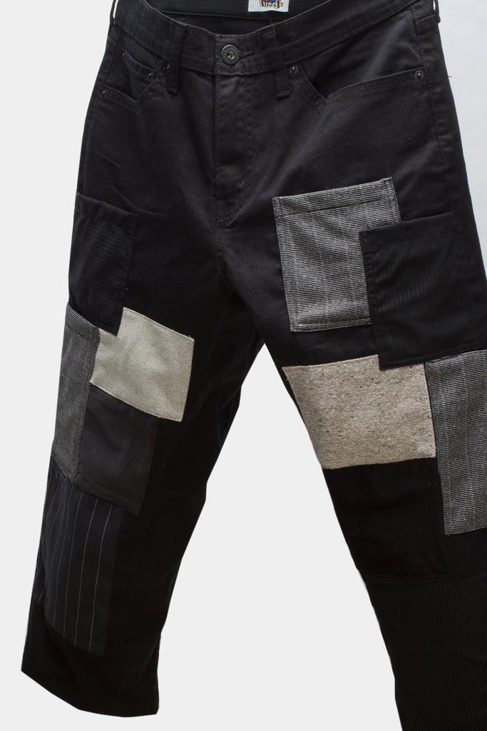 contrast patch pant