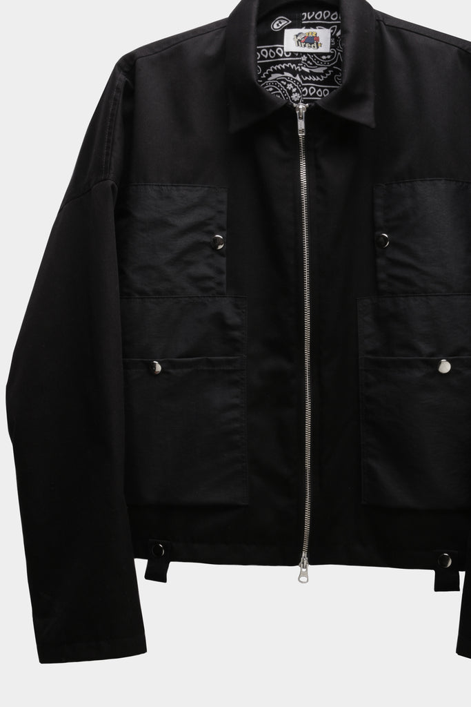 mechanics cropped jacket