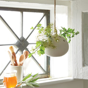 Hanging Ceramic Flower Frog Vase