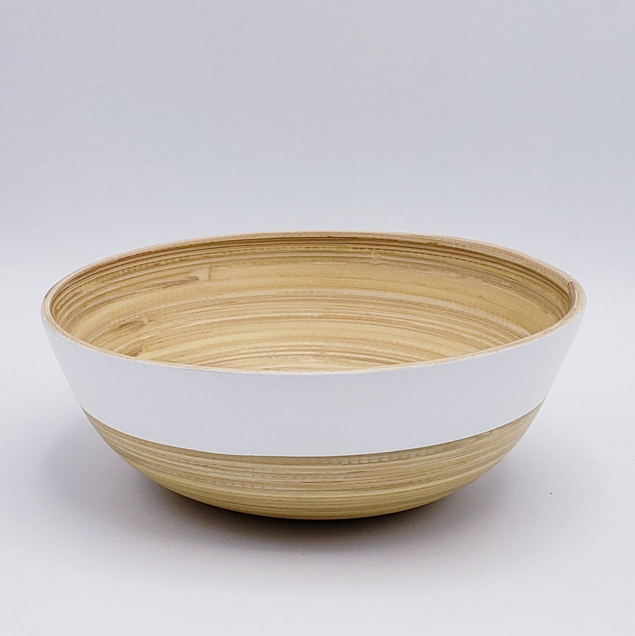 Medium Shallow Bamboo Bowl - Two Tone