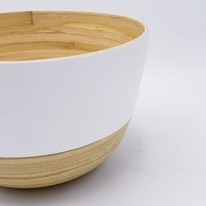 Large Tall Bamboo Bowl - Two Tone