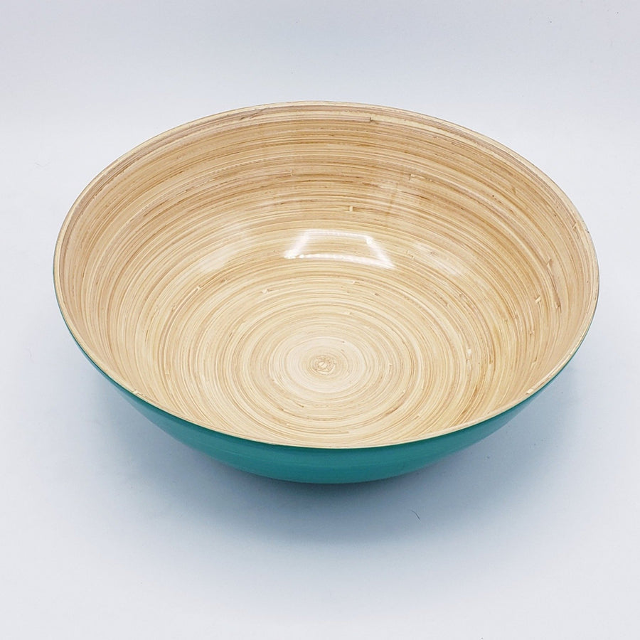 Large Shallow Bamboo Bowl