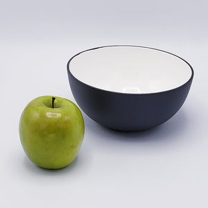 Aluminum & Enamel Serving Bowl