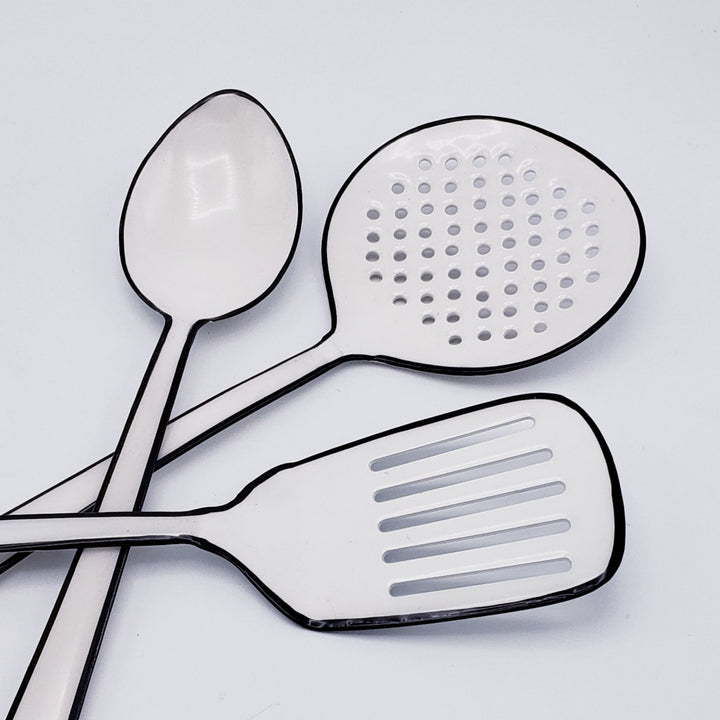 Enamel Strainer Spoon