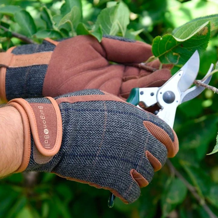 Men's Tweed Gardening Gloves