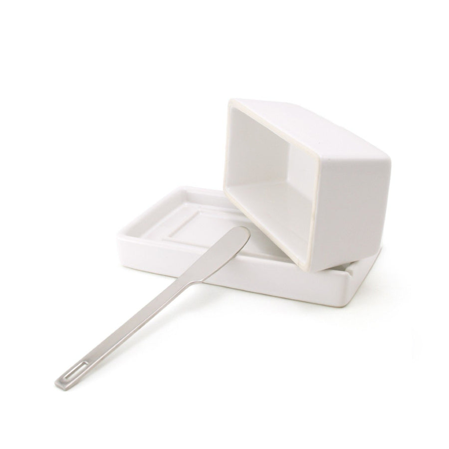 Ceramic Butter Dish w/ Knife