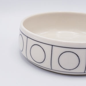 Porcelain Catchall Bowl - Linear Circs