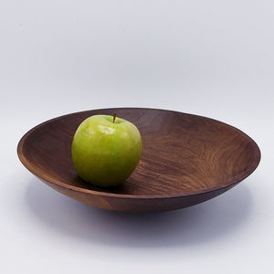 Shallow Wood Serving Bowl