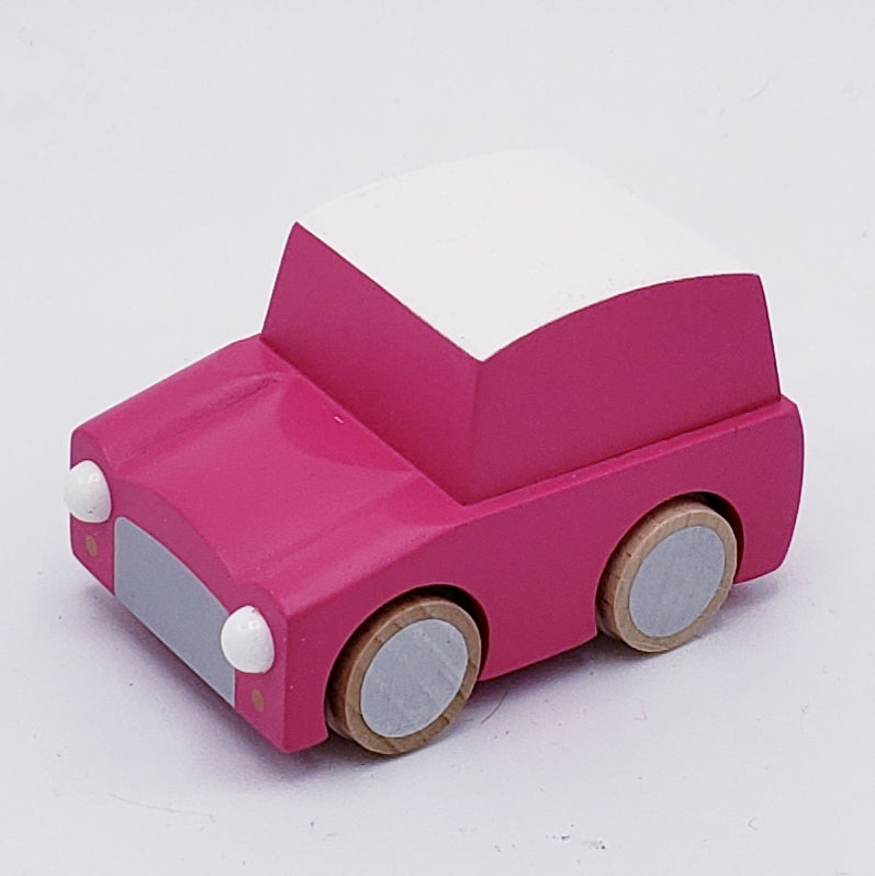 Classic Pull Back Wood Toy Car