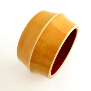 Lacquer Wood Bangle - Convex Wide