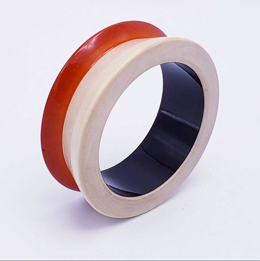 Lacquer Wood Bangle - Concave