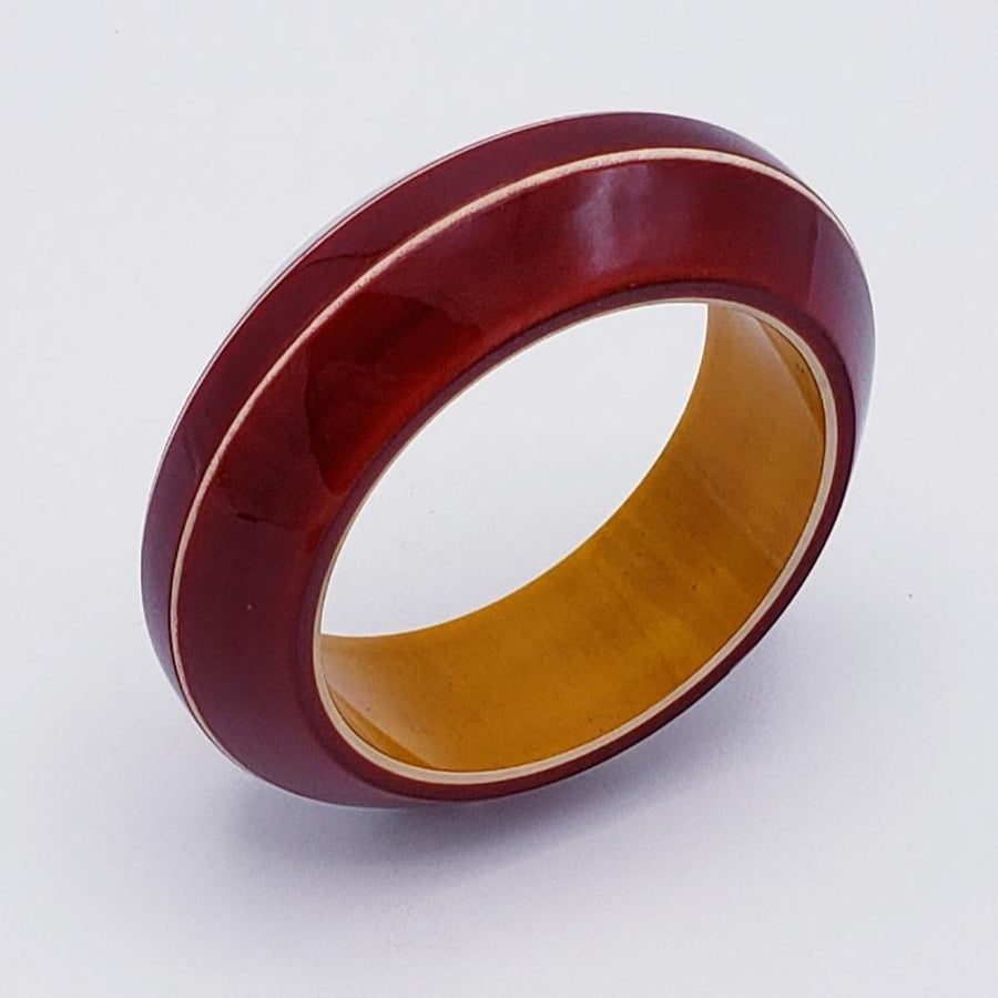 Lacquer Wood Bangle - Convex Medium