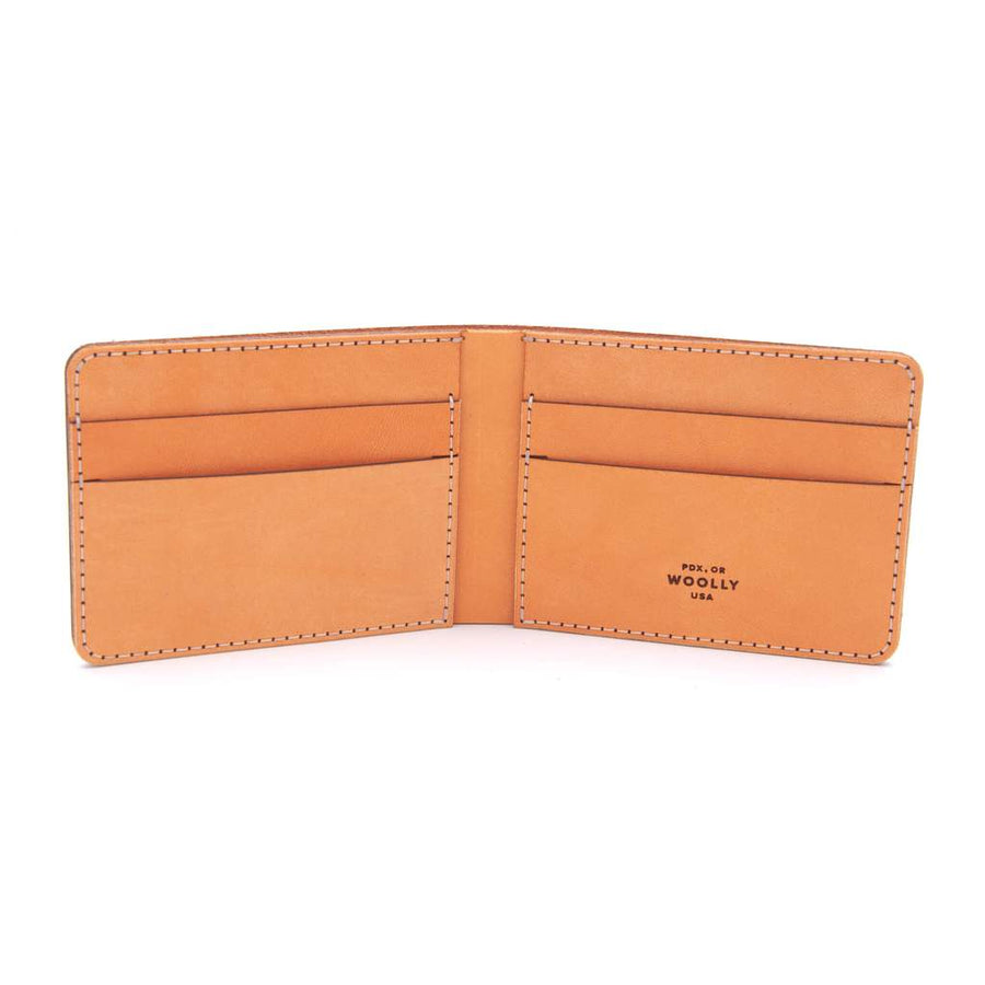 Hand-Sewn Leather Bifold Wallet