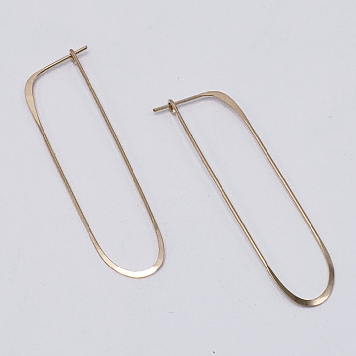 Long Oval Hoop Earrings