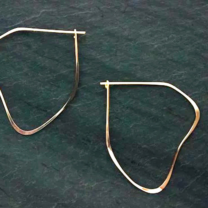 Organic Hoop Earrings