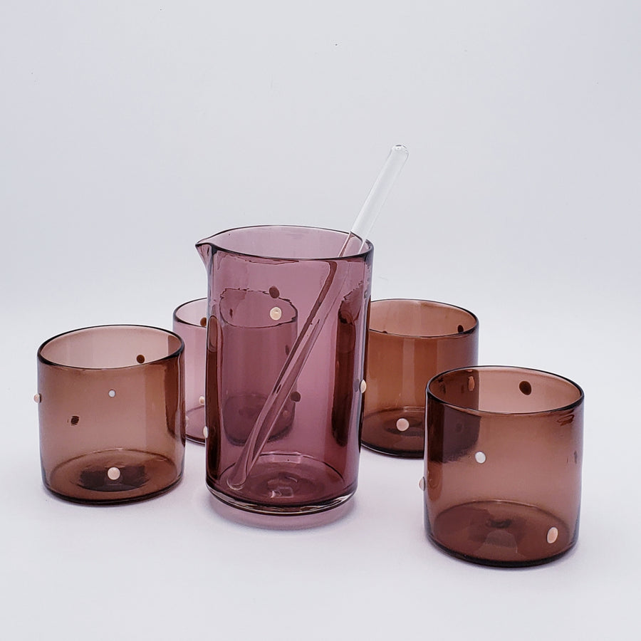 Lowball Glass - With Dots