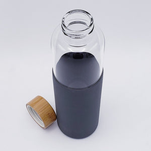 Glass Water Bottle with Bamboo Top