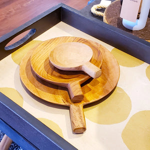Teak Wood Paddle Tray - 3 sizes