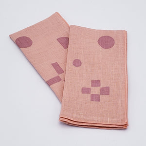 Block Printed Dinner Napkins - Set of 2