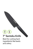 Hurom Fruit & Vegetable Knife Set, Matte Black