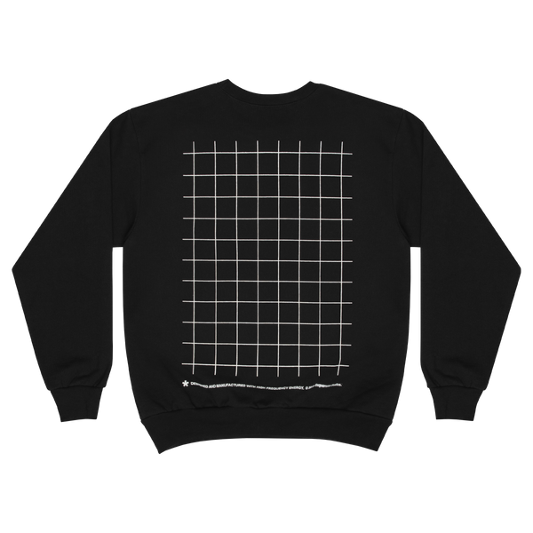 GRID CREWNECK (BLACK)