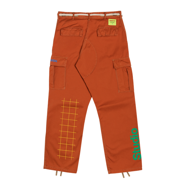 STUDIO FIELD CARGO PANTS (ORANGE)
