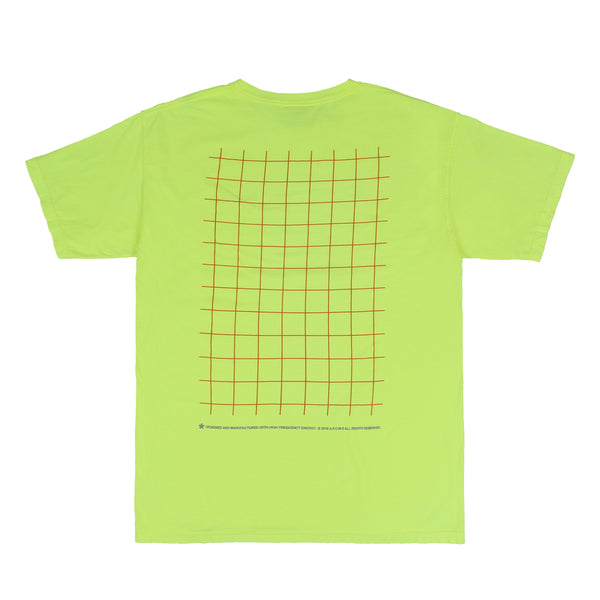 GRID POCKET LOGO TEE (NEON)