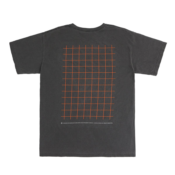 GRID POCKET LOGO TEE (ASH GREY)