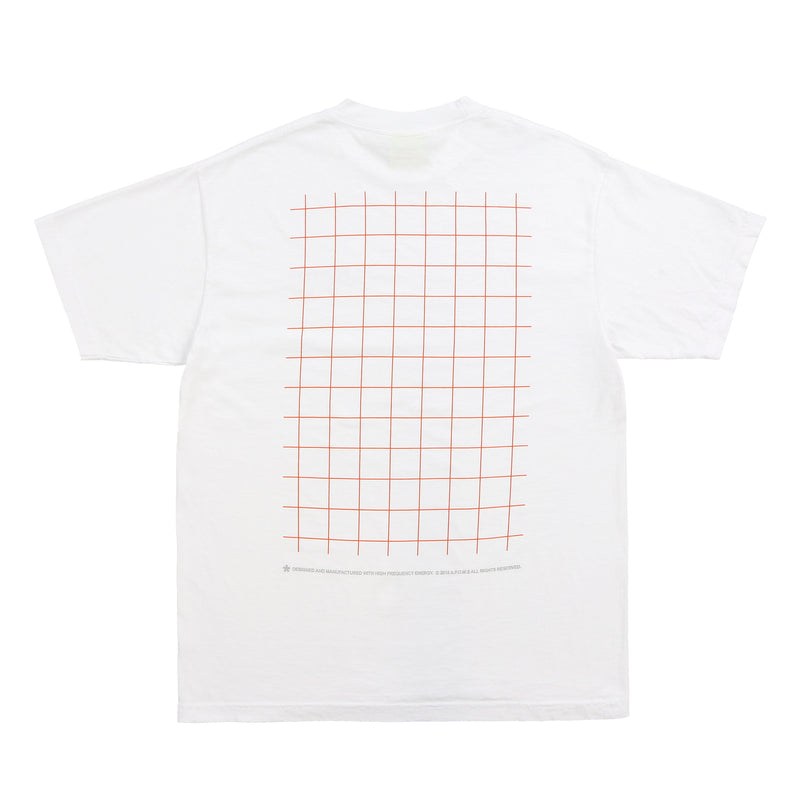 GRID POCKET LOGO TEE (WHITE)