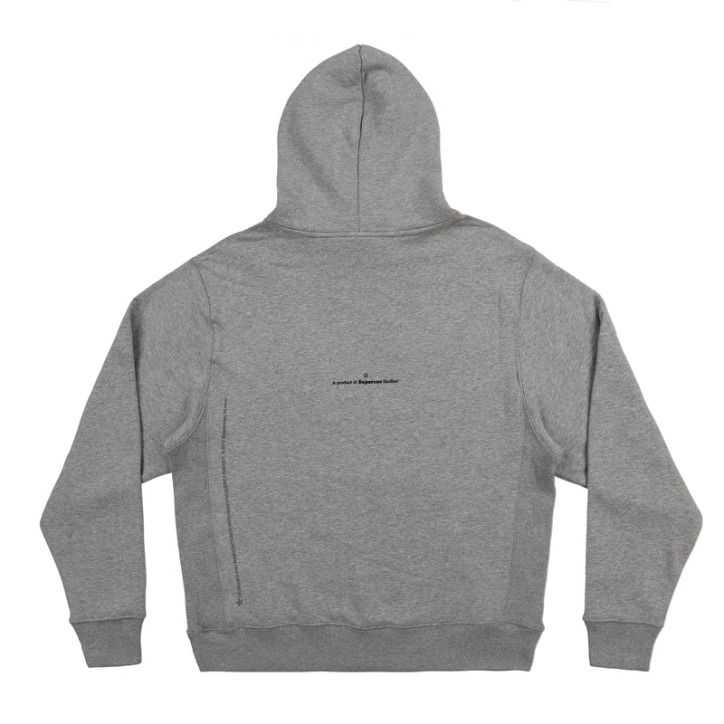WEALTH IS OF THE MIND HOODIE (HEATHER GREY)