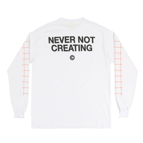 STUDIO FIELD L/S TEE (WHITE)