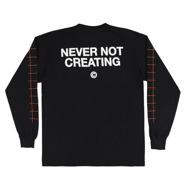 STUDIO FIELD L/S TEE (BLACK)