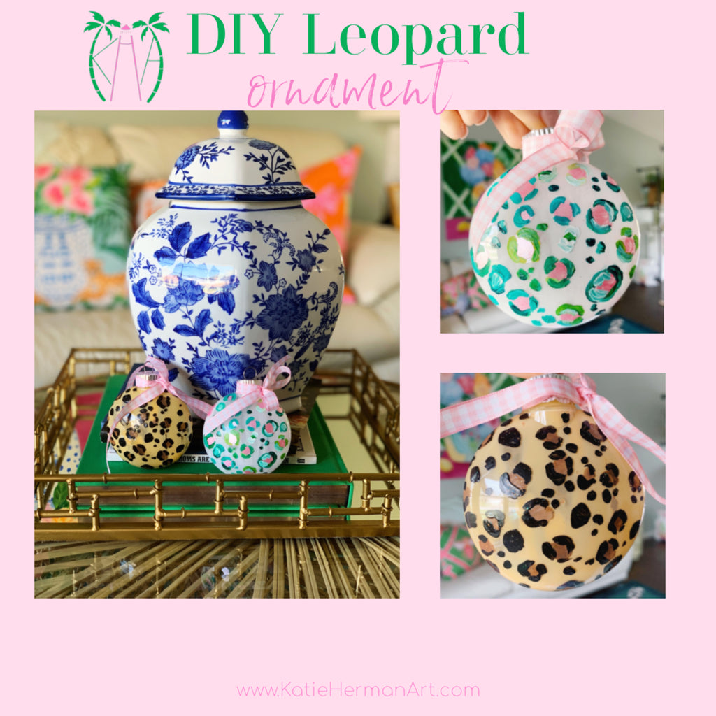 DIY Leopard Ornament