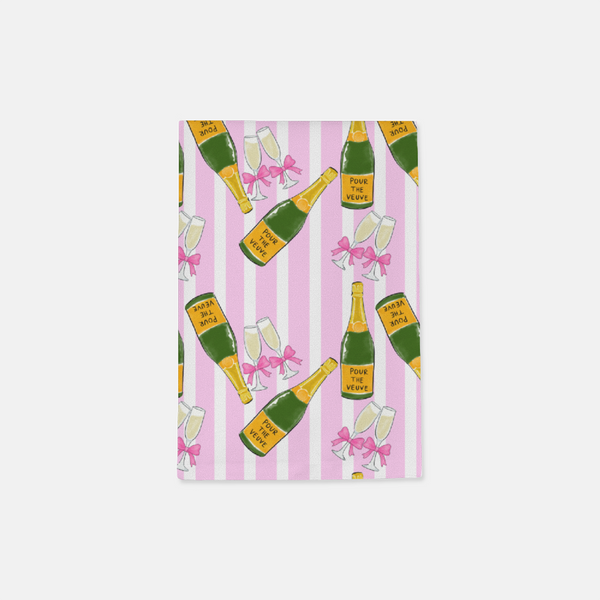 Pink Pour The Veuve Hostess towels