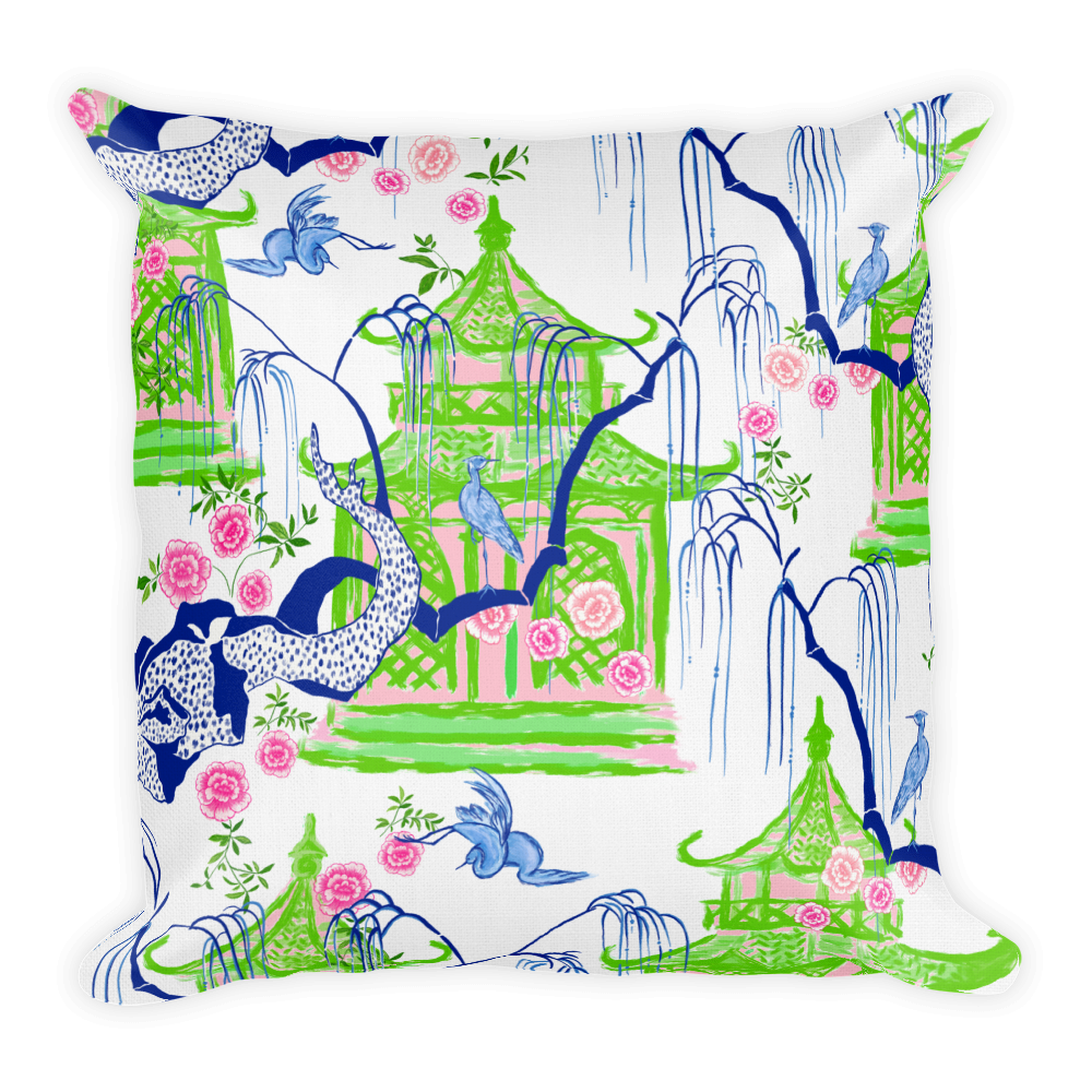 Carmen Collection | Chinoiserie pagoda pillows