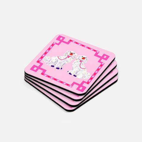 Pink Staffordshire Dog Coasters