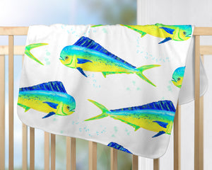 Dolphin Fish Baby Blanket