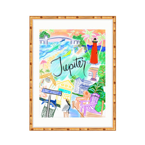 Jupiter Florida Map Print