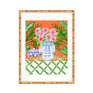 Chinoiserie Pattern Play, Orange