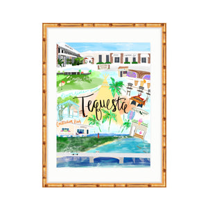 Tequesta Map, fine art print