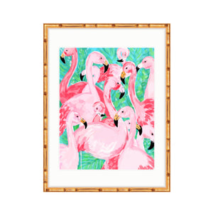 Flamingo Party, green
