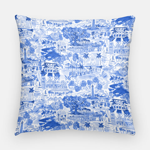 Palm Beach Pillow | Blue & White 20x20