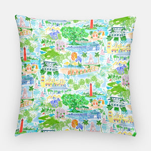 Palm Beach Pillow | Happy Colors 20x20