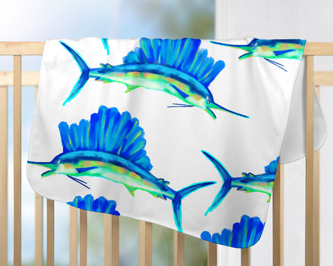 Sailfish Baby Blanket