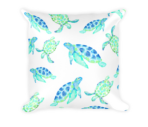 Watercolor Turtle Pillow
