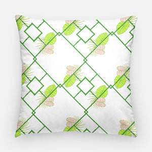 Bamboo lattice pillow | 20x20