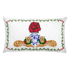 Christmas Cheetah lumbar pillow