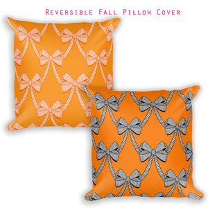 Put a Bow on It | Fall reversible pillow