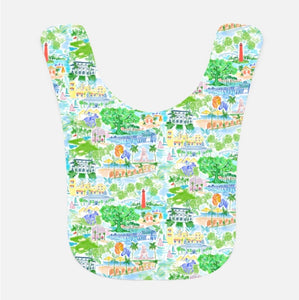 Palm Beach Baby Bib